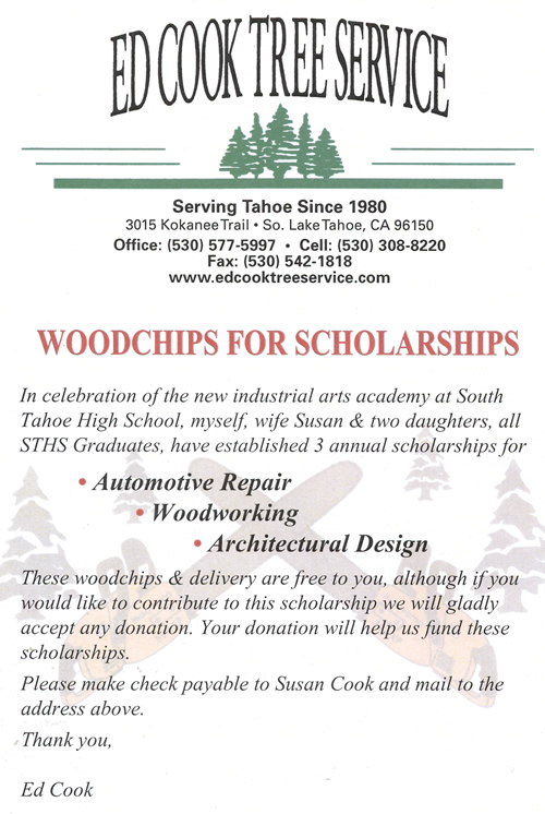 Donations for Woodchips